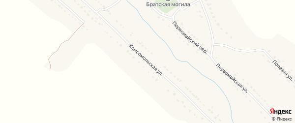 Комсомольская улица на карте села Брасово с номерами домов