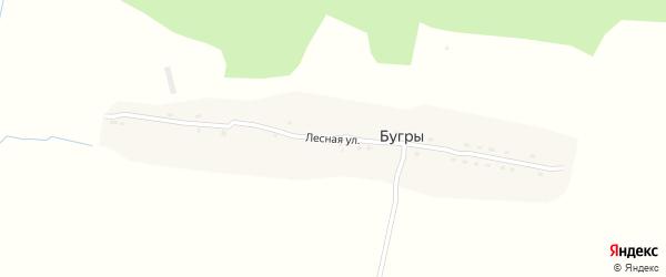 Лесная улица на карте поселка Бугры с номерами домов