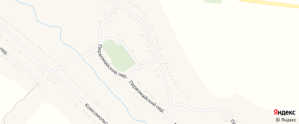 Первомайская улица на карте села Брасово с номерами домов