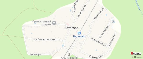 Зеленый переулок на карте поселка Батагово с номерами домов