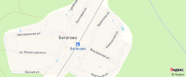 Брянская улица на карте поселка Батагово с номерами домов