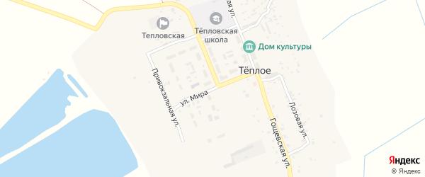 Улица Мира на карте поселка Теплого с номерами домов