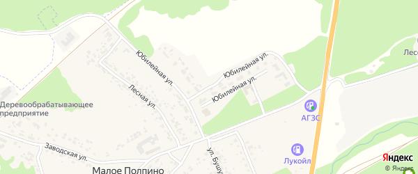 Юбилейная улица на карте села Малое Полпино с номерами домов