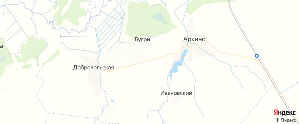Карта территории Аркинского сельского поселения Брянской области с районами, улицами и номерами домов