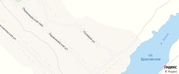 Полевая улица на карте села Брасово с номерами домов