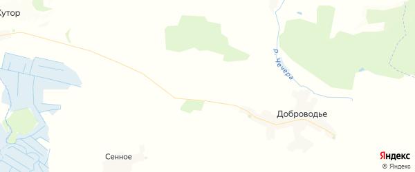 Карта территории Доброводского сельского поселения Брянской области с районами, улицами и номерами домов
