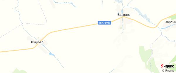 Карта территории Быховского сельского поселения Брянской области с районами, улицами и номерами домов