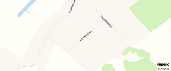 Улица Надежа на карте села Верхополья с номерами домов