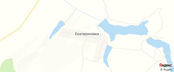 Карта поселка Екатериновки в Брянской области с улицами и номерами домов
