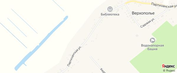 Партизанская улица на карте села Верхополья с номерами домов