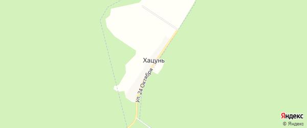 Карта деревни Хацуни в Брянской области с улицами и номерами домов