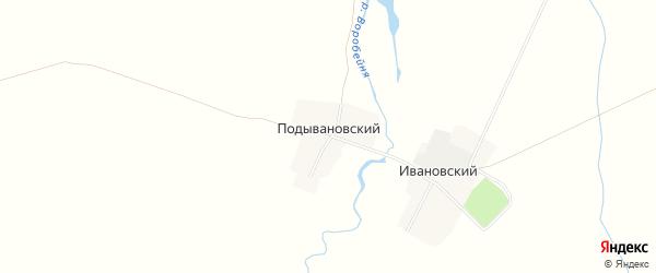 Карта Подывановского поселка в Брянской области с улицами и номерами домов