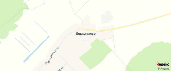 Карта села Верхополья в Брянской области с улицами и номерами домов