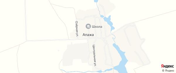 Карта села Апажа в Брянской области с улицами и номерами домов