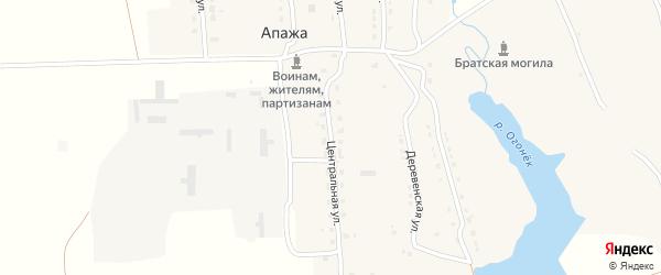 Центральная улица на карте села Апажа с номерами домов