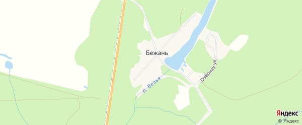 Карта поселка Бежани в Брянской области с улицами и номерами домов