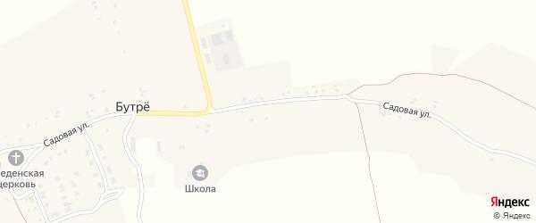 Садовая улица на карте села Бутре с номерами домов