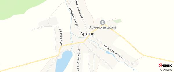 Карта села Аркино в Брянской области с улицами и номерами домов