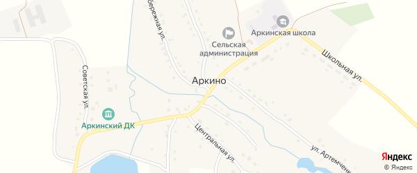Улица Боровых Николая Ивановича на карте села Аркино с номерами домов