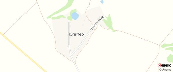 Цветочная улица на карте поселка Юпитера с номерами домов