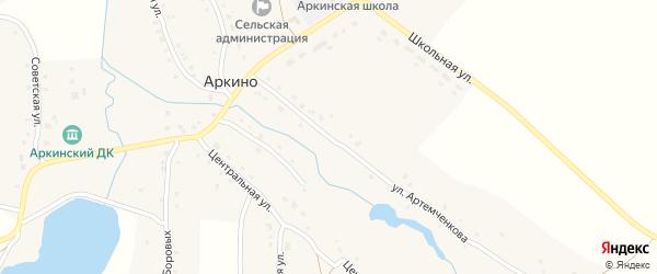 Улица Артемченкова на карте села Аркино с номерами домов