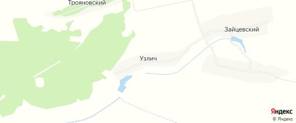 Карта поселка Узлича в Брянской области с улицами и номерами домов