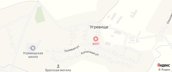 Колхозный переулок на карте села Угревища с номерами домов