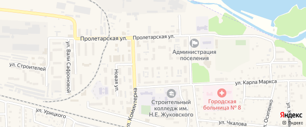 Улица Ленина на карте поселка Белые Берега с номерами домов