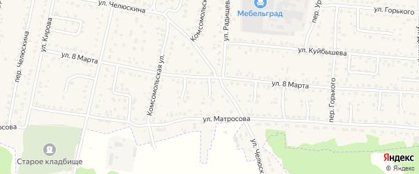 Проезд 2-й 8 Марта на карте поселка Белые Берега с номерами домов