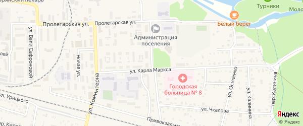 Вокзальная улица на карте поселка Белые Берега с номерами домов