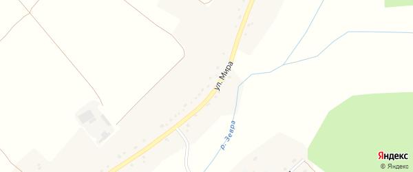 Улица Мира на карте деревни Сныткино с номерами домов
