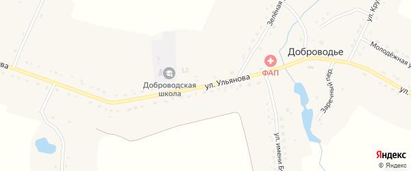Улица имени Ульянова на карте села Доброводья с номерами домов