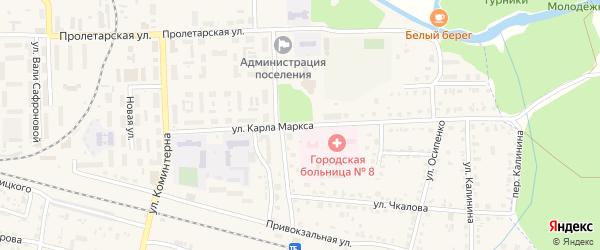 Проезд Карла Маркса на карте поселка Белые Берега с номерами домов