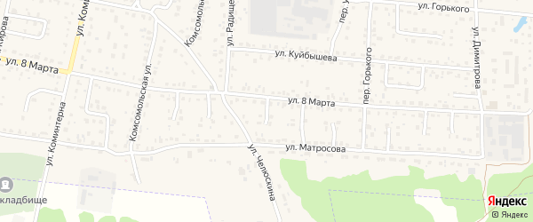 Проезд 3-й 8 Марта на карте поселка Белые Берега с номерами домов