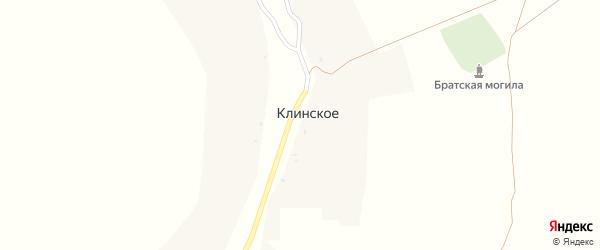 Болотная улица на карте Клинского села с номерами домов