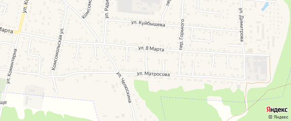 Проезд 4-й 8 Марта на карте поселка Белые Берега с номерами домов