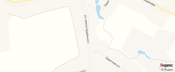 Улица имени Будёного на карте села Доброводья с номерами домов