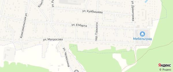 Проезд Александра Матросова на карте Брянска с номерами домов