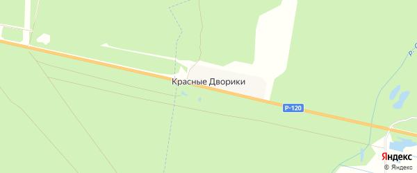 Карта поселка Красные Дворики в Брянской области с улицами и номерами домов