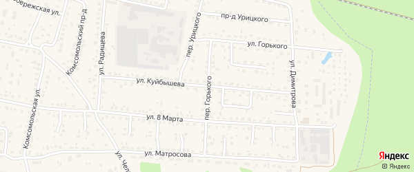 Улица Куйбышева на карте поселка Белые Берега с номерами домов