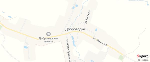 Карта села Доброводья в Брянской области с улицами и номерами домов