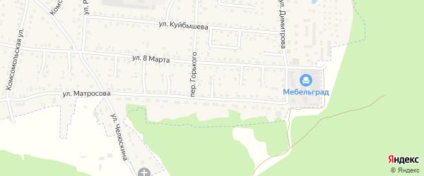 Проезд 2-й Матросова на карте поселка Белые Берега с номерами домов