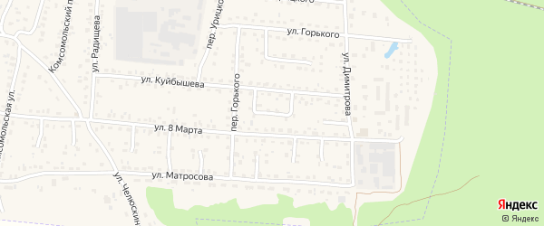 Проезд Куйбышева на карте поселка Белые Берега с номерами домов