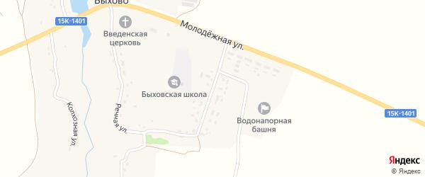 Центральная улица на карте села Быхово с номерами домов