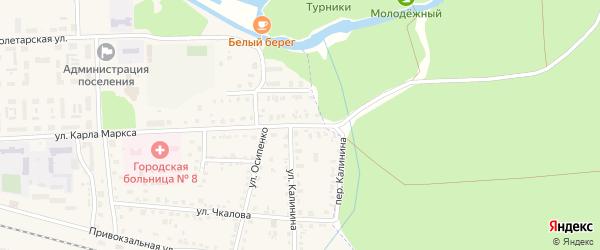 Набережная улица на карте поселка Белые Берега с номерами домов