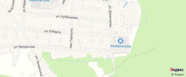 Проезд 5-й 8 Марта на карте поселка Белые Берега с номерами домов