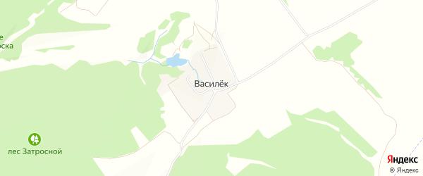 Карта поселка Василька в Брянской области с улицами и номерами домов
