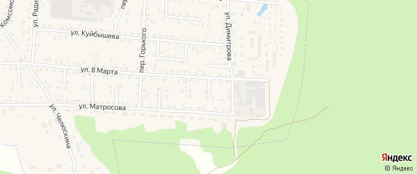 Проезд 6-й 8 Марта на карте поселка Белые Берега с номерами домов