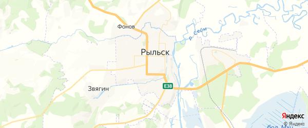 Карта Рыльска с районами, улицами и номерами домов