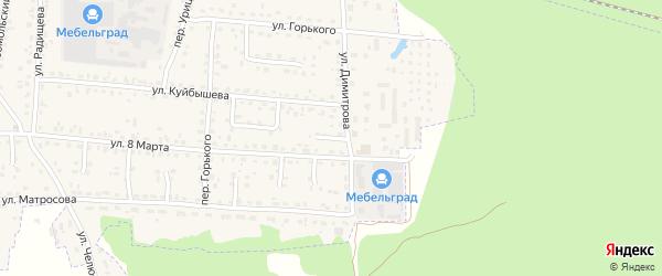 Переулок Димитрова на карте поселка Белые Берега с номерами домов